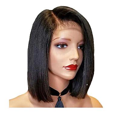 rövid bob egyenes paróka csipke első emberi haj paróka brazil remy emberi haj paróka a baba haj a nők számára