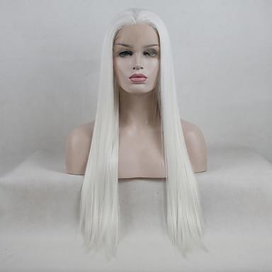 Syntetické čipky předních paruky Volný Kardashian Styl Volná část Se síťovanou přední částí Paruka Bílá Krémově bílá Umělé vlasy 18-26 inch Dámské Nastavitelný / Krajka / Odolné vůči horku Bílá Paruka