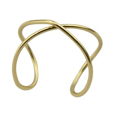 billige Motering-Dame crossover X-ring Åpne Ring Legering damer Geometrisk Grunnleggende Motering Smykker Gull Til Daglig Stevnemøte 7