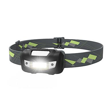 billige Lommelykter & campinglykter-Sensor Hodelykter sikkerhet lys 125 lm LED LED 1 emittere 4.0 lys tilstand med batterier Bærbar Camping / Vandring / Grotte Udforskning Dagligdags Brug Sykling Svart / Gul / IPX 6