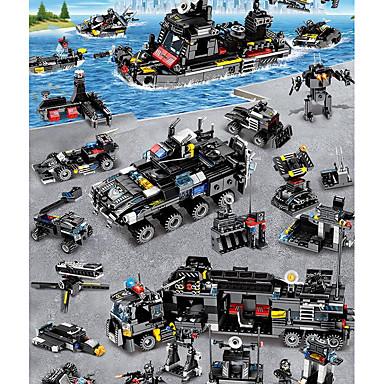 Kocke za slaganje Građevinski set igračke Poučna igračka 400-800 pcs Vozila Vojni Letjelica kompatibilan Legoing simuliranje Vojno vozilo Policijski auto Helikopter Sve Dječaci Djevojčice Igračke za