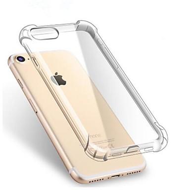 Pouzdro Uyumluluk Apple iPhone X / iPhone 8 Plus / iPhone 8 Şoka Dayanıklı / Şeffaf Arka Kapak Solid Yumuşak TPU