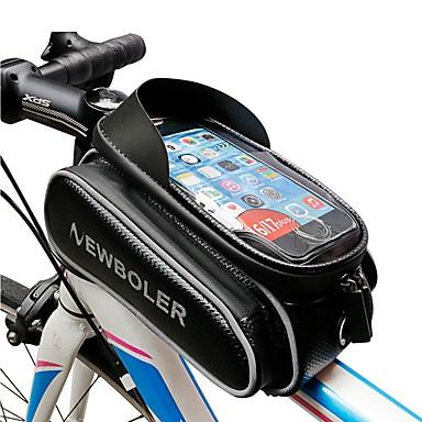 billige Sykkelvesker-Mobilveske Vesker til sykkelramme 5.5 - 6.2 tommers Sykling til Samsung Galaxy S6 edge iPhone 8 Plus / 7 Plus / 6S Plus / 6 Plus iPhone X Svart Fjellsykkel Veisykling Sykling / Sykkel / iPhone XR