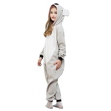 Kigurumi-pyjamas Koala Onesie-pyjamas Polarfleece Grå Cosplay Til Drenge og piger Nattøj Med Dyr Tegneserie Festival / Højtider Kostumer