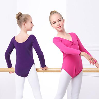 Balet Leotards Djevojčice Trening / Seksi blagdanski kostimi Elastan / Likra Nabori Dugih rukava Hula-hopke / Onesie