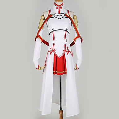 ba9ebf81069d Inspired by SAO Swords Art Online Asuna Yuuki Anime Cosplay Costumes  Japanese Cosplay Suits Special Design Top / Skirt / More Accessories For  Men's ...