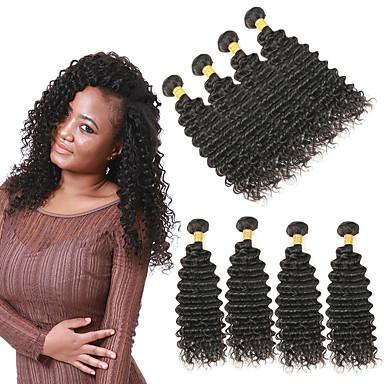 4 svazky Brazilské vlasy Velké vlny Remy vlasy Příčesky z pravých vlasů 10-26 inch Lidské vlasy Vazby Měkký povrch Nejlepší kvalita nový Rozšíření lidský vlas Dámské