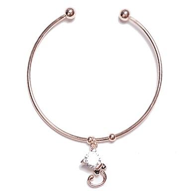 abordables Bracelet-Manchettes Bracelets Femme Classique Elégant simple Bracelet Bijoux Argent Or Rose pour Vacances Travail Festival