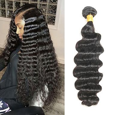 1 Bundle Brazilské vlasy Velké vlny Remy vlasy Příčesky z pravých vlasů 8-28 inch Lidské vlasy Vazby Měkký povrch Nejlepší kvalita Nový přírůstek Rozšíření lidský vlas Dámské