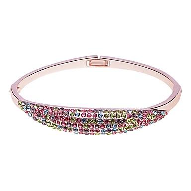 abordables Bracelet-Bracelet Jonc Femme Classique Elégant simple Bracelet Bijoux Argent Or Rose pour Vacances Anniversaire Bar