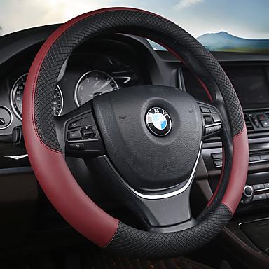 voordelige Auto-interieur accessoires-Auto-stuurhoezen Leder 38cm Paars / Rood / Blauw Voor Universeel Alle Modellen Alle jaren