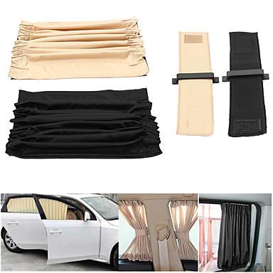 abordables Accessoires Intérieur de Voiture-2pcs 70cm mesh l cantonnière arrière auto draperie uv parasol rideau pare-brise