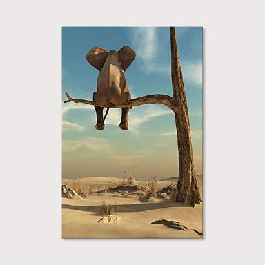abordables Toiles-Imprimé Impression sur Toile - Animaux Photographie Moderne Art Prints