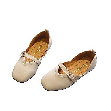 hesapli Kız Çocuk Ayakkabıları-Genç Kız PU Düz Ayakkabılar Bebek (9 milyon 4ys) / Küçük Çocuklar (4-7ys) / Büyük Çocuklar (7 yaş +) Rahat Siyah / Bej / Açık Sarı İlkbahar & Kış