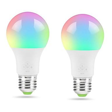 abordables Ampoules électriques-zdm 2pcs smart wifi ampoule blanche chaude e27 4.5w ampoule pour veilleuse de la chambre sans moyeu requiscompatible avec alexa che& assistant google& mode musique ifttt& mode lever du sol