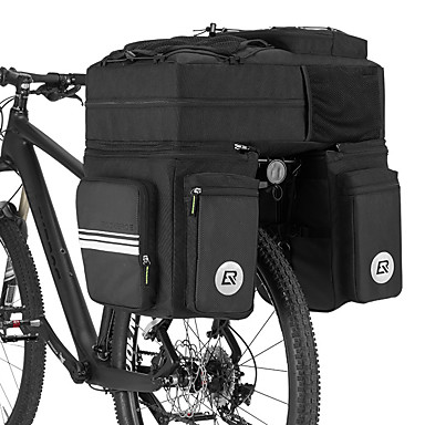 abordables Sacoches de Vélo-ROCKBROS 48 L Sac de Porte-Bagage / Double Sacoche de Vélo Sacs de Porte-Bagage 3 en 1 Multifonctionnel Grande Capacité Sac de Vélo Nylon 600D PVC Sac de Cyclisme Sacoche de Vélo Vélo de Route Vélo