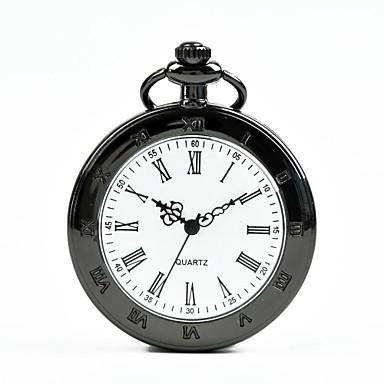 baratos Colar com Relógio-Homens Mulheres Relógio de Bolso Quartzo Preta Relógio Casual Legal Analógico Casual Fashion - Preto