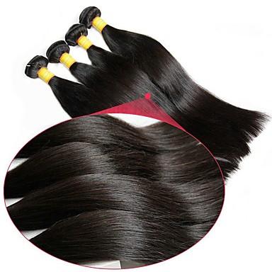 6 pakettia Brasilialainen Suora Virgin-hius Käsittelemätön aitoa hiusta Headpiece Hiukset kutoo Pidentäjä 8-28 inch Luonnollinen väri Hiukset kutoo Vastasyntynyt Silkkinen Tulokas Hiukset Extensions