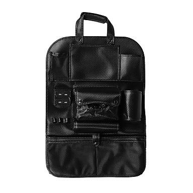 abordables Accessoires Intérieur de Voiture-sac de rangement en cuir multifonctionnel sac de rangement organisateur pad porte-bouteille de téléphone avec port de charge usb