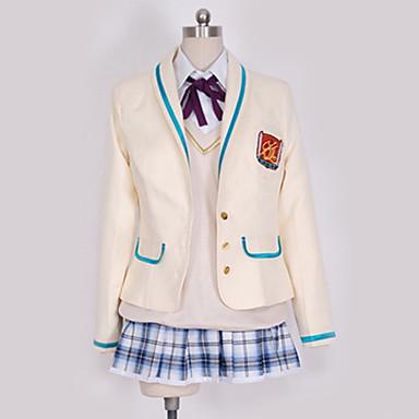 קיבל השראה מ קוספליי קוספליי אנימה תחפושות קוספליי תלבושות לבית הספר ערים / בריטי / עכשווי עניבה / מעיל / חולצה עבור בגדי ריקוד גברים / בגדי ריקוד נשים