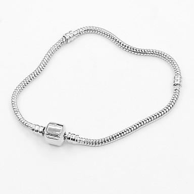 abordables Bracelet-Bracelet ID Femme Long Décontracté / Sport Bracelet Bijoux Argent pour Festival