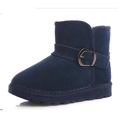 5de5fb92cc9 Chico Zapatos Ante Invierno Confort   Botas de nieve Botas para Niños    Adolescente Negro   Fucsia   Azul   Botines   Hasta el Tobillo