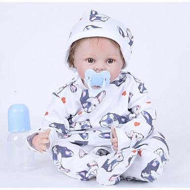 FeelWind בובה מחדש תינוקות בנים 22 אִינְטשׁ סיליקון ויניל - כְּמוֹ בַּחַיִים עבודת יד חמוד ילדים / נוער לא רעיל הילד של יוניסקס צעצועים מתנות
