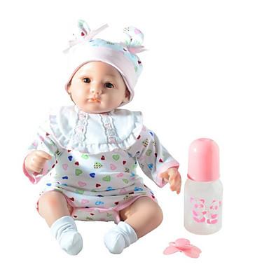 FeelWind Muñecas reborn Bebés Niños 18 pulgada Silicona Vinilo - natural Hecho a Mano Bonito Segura para Niños Niños / Adolescentes Non Toxic Kid de Unisex Juguet Regalo