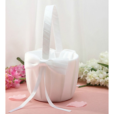 abordables Paniers de Fleurs-Panier de fleurs Autres 22 cm Noeud en satin 1 pcs