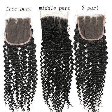 billige Parykker af ægte menneskerhår-1 Bundle Brasiliansk hår Kinky Curly 100% Remy Hair Weave Bundles Menneskehår, Bølget Hårforlængelse af menneskehår 8-20inch Naturlig Farve Menneskehår Vævninger Nyfødt Vandfald Nuttet Menneskehår