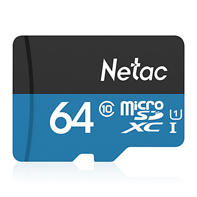 Obbiettivo Netac 64gb Scheda Di Memoria Uhs-i U1 - Class10 P500 #07096944 Imballaggio Di Marca Nominata