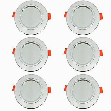 6pcs 5 W 360 lm 10 Perles LED Installation Facile Encastré LED Encastrées Blanc Chaud Blanc Froid 220-240 V Maison / Bureau Salon / Salle à Manger