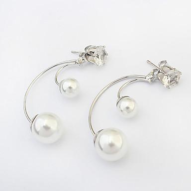 Women's Layered Two tone two stone Drop Earrings Imitation ...