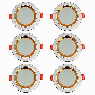6PCS 5 W 360 lm 20 الخرز LED سهولة التثبيت في فجوة أضواء LED أبيض دافئ أبيض كول 220-240 V سقف المنزل / مكتب غرفة الجلوس / الضيوف