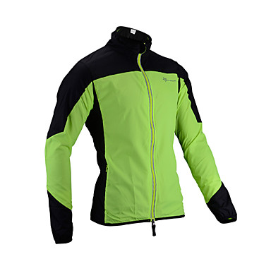 ROCKBROS Men's Cycling Jacket Bike Raincoat Waterproof Windproof Sports Green Clothing Apparel Loose Bike Wear Waterproof / Micro-elastic