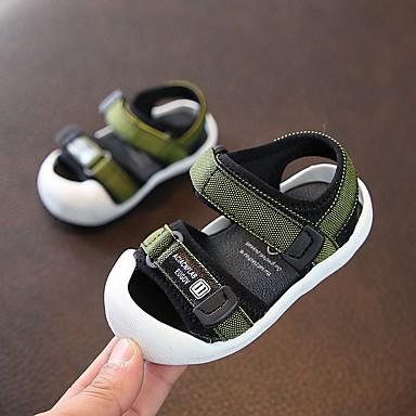 voordelige Babyschoenentjes-Jongens Comfortabel / Eerste schoentjes Polyester Sandalen Peuter (9m-4ys) Geel / Rood / Groen Zomer