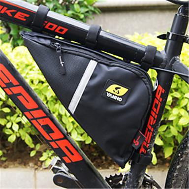 abordables Sacoches de Vélo-Wheel up 2.48 L Sac Cadre Velo Sac à armature triangulaire Grande Capacité Portable Vestimentaire Sac de Vélo Oxford Sac de Cyclisme Sacoche de Vélo Cyclisme Activités Extérieures Trail