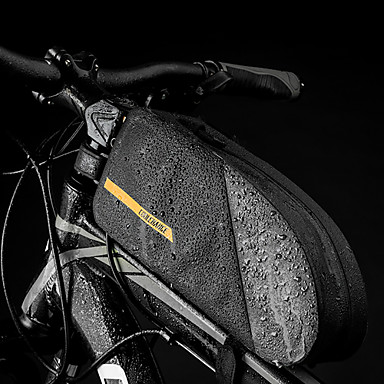 billige Sykkelvesker-CoolChange 1.6 L Vesker til sykkelramme Vesker til sykkelstyre Regn-sikker Fort Tørring Vanntett Glidelås Sykkelveske TPU Nylon Sykkelveske Sykkelveske Sykling Utendørs Trening Sykkel / Refleksbånd