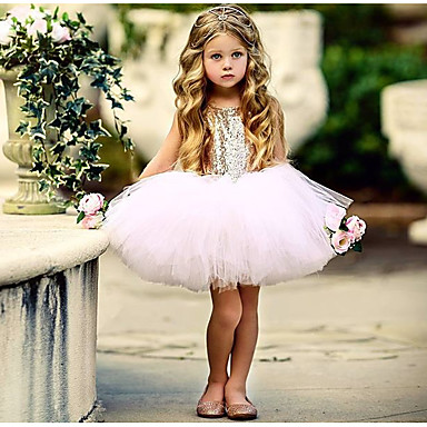 povoljno Haljinice za bebe-Dijete Djevojčice Osnovni Dnevno Jednobojni Bez rukávů Regularna Normalne dužine Pamuk Haljina Crn