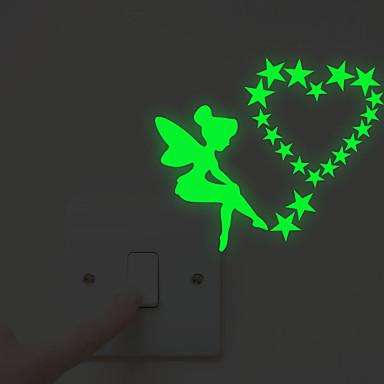 Valonkatkaisijan-tarrat - Hohtavat seinätarrat / Ihmiset Wall Stickers Keijut Olohuone / Makuuhuone / Kylpyhuone
