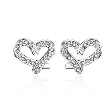 f84fb720a Women's Clear Cubic Zirconia Classic Stud Earrings Earrings Platinum Plated Imitation  Diamond S925 Sterling Silver Earrings