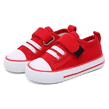 voordelige Babyschoenentjes-Jongens Comfortabel Canvas Sneakers Peuter (9m-4ys) / Little Kids (4-7ys) Magic tape Rood / Groen / Roze Winter / Rubber
