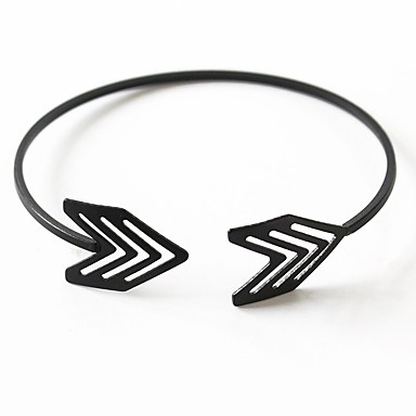 billige Motearmbånd-Dame Mansjettarmbånd geometriske Arrow Kunstnerisk Punk Legering Armbånd Smykker Gull / Svart / Sølv Til Fest Gave Karneval