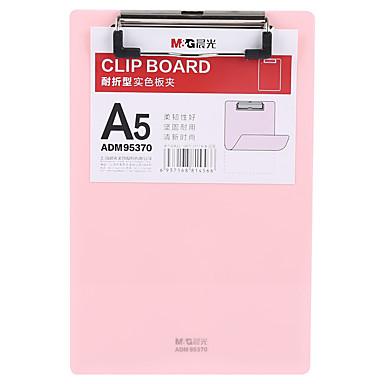 100% Vero 1 Pcs M&g Adm95370 File Delle Cartelle A5 Plastica Etichetta Personalizzata #07131681 Lieve E Dolce