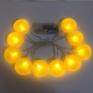 2m Guirlandes Lumineuses 10 LED Blanc Chaud Décorative Piles AA alimentées 1 set