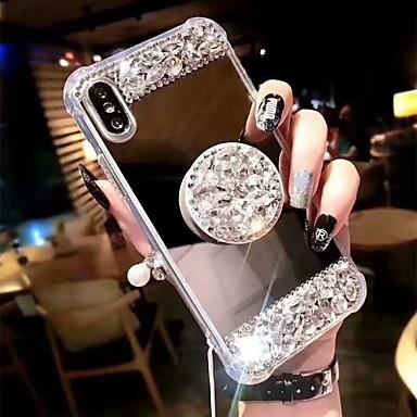 hesapli iPhone Kılıfları-Pouzdro Uyumluluk Apple iPhone XS / iPhone XR / iPhone XS Max Şoka Dayanıklı / Satandlı Arka Kapak Yapay Elmas Sert Arkilik