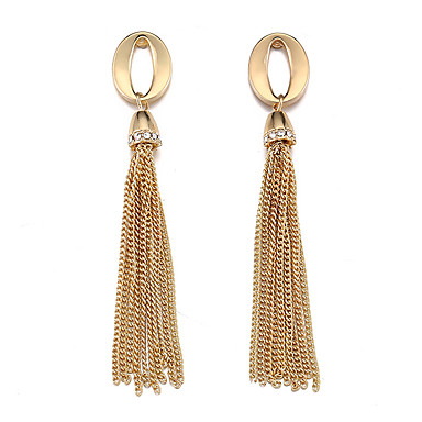 Women's Tassel Drop Earrings Earrings Simple Jewelry Gold / Silver For Wedding Engagement 1 Pair
