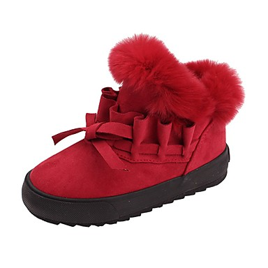 4b436e65706 Chica Zapatos Ante Invierno Confort   Botas de nieve Botas para Niños    Adolescente Gris   Rosa   Wine   Botines   Hasta el Tobillo
