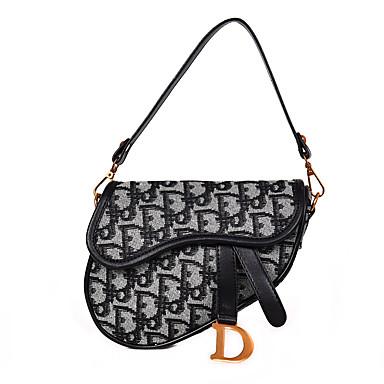 ee731c511a Dior Style Women s Bags Canvas Shoulder Bag Letter Black   Red