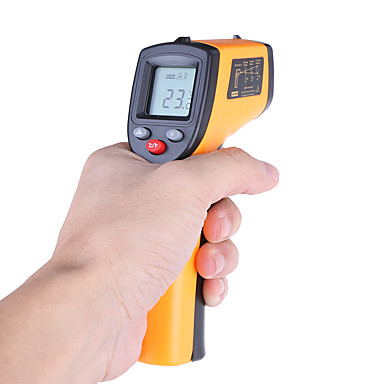 voordelige Test-, meet- & inspectieapparatuur-laser lcd digitale ir infrarood thermometer temperatuur meter pistool contactloze thermometer benetech gm320